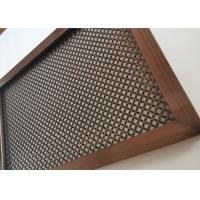 Surface Finish Architectural Wire Mesh , Rigid Woven Wire Mesh For Cabinet Manufactures