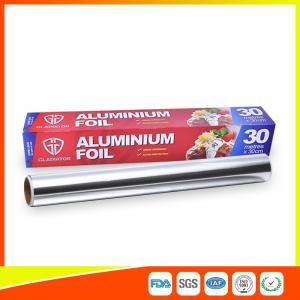 Customized Kitchen Aluminium Foil Roll Food Grade , Aluminium Wrapping Paper Manufactures