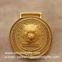 China Relief metal medal with raised wolf head, personalized embossed metal medals, on sale