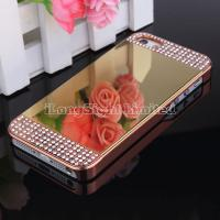 Mirror With Metal Diamond Case cover For iPhone 5/5S Manufactures