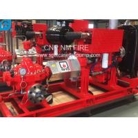 1500GPM @ 155PSI UL/FM Approval Diesel Engine Drive Fire Pump With Horizontal Centrifugal Split case Fire Pump Manufactures