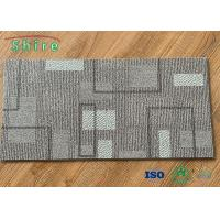 Slip Resistant Waterproof PVC Commercial Lvt Flooring Carpet Design Grey Color Manufactures