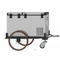Three Wheels Bike Cargo Trailer , 125L Mobile Cooler Trailer With 1 Year Warranty Manufactures
