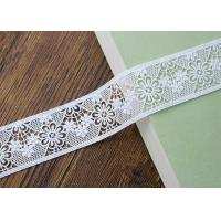 Water Soluble Poly Milk Embroidered Floral Lace Ribbon Trim Customized Manufactures