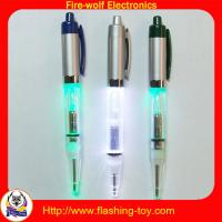 LED flashing blink Aluminum retractable ballpoint Logo Projector Pen Manufactures