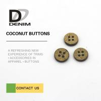 24L 4 Holes Coconut Buttons Natural Color With Custom Logo Design