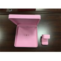 Luxury Pink Plastic Earring Storage Box , Eco - Friendly Ladies Jewellery Box Manufactures