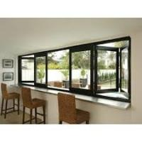 Residential Aluminum Bifold Windows With Black Or Customized Color Heat Insulating Manufactures