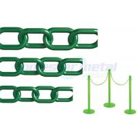 Recyclable Colorful Plastic Link Chain / Green Plastic Chain For Garden Manufactures