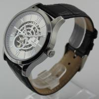 Luxury Stainless Steel Mens Wrist Watches With Transparent Caseback Manufactures