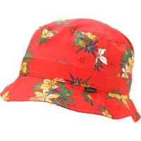 China Outdoor Camping Floral Red Cotton Bucket Hat For Women Flower Patterns Available on sale