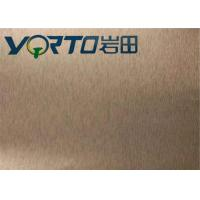 Color Painted Brushed Aluminum Sheets Customizable Width Good Rigidity Manufactures