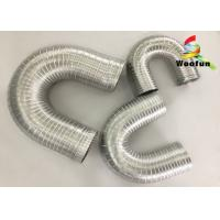 Ventilation System Fireproof Flexible Semi Rigid Aluminum Duct Pipe Manufactures