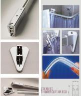 Shower Curtain Rods / Shower Curtain Rails Manufactures