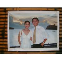 China hand-painted custom portrait oil painting from photo on sale