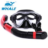 Red Black Diving Mask And Snorkel Sets Professional For Water Sports Equipment Manufactures