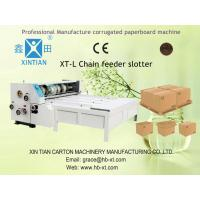 Paper Flexo Printing Slotting Machine Automatical Controlled With Chain Feeder Manufactures