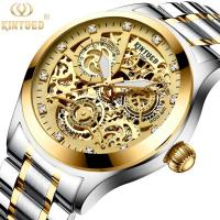 KINYUED good quality tourbillon movement watches men luxury brand automatic mechanical mens watch Manufactures