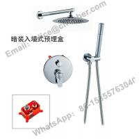 Wall-mount Concealed 3 holes thermostatic faucet,high quality square in wall concealed thermostatic shower mixer faucet