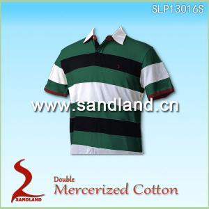 Double Mercerized Cotton Polo Shirt Golf Shirt Manufactures