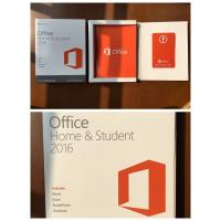 wholesale  Office 2016 home student    product key card (PKC) BOX WITH DVD