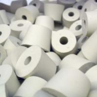 Natural Color Silicone Stopper With Hole Customized Logo , FDA Approved Manufactures