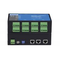Desktop Mounting 2 Port Serial Server , Ethernet To Serial Server Aluminum Alloy Material Manufactures