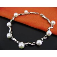 China fashion sterling silver freshwater pearl bracelet on sale