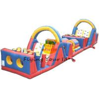 PVC Tarpaulin Inflatable Castle Bouncer / Obstacles For Parties Manufactures