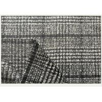 One side Tartan , Black And White Hounds tooth / Swallow Grid Plaid Fabric Manufactures