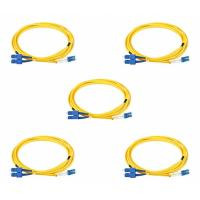 2 Meters Duplex LC To SC Single Mode Fiber Patch Cable 0.3dB Interchangeability