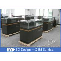 8MM Glass Thickness Store Jewelry Display Cases / Dark Gray Jewellery Counter Display Manufactures