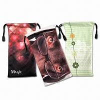 Sublimation Microfiber Pouches with Drawstrings Manufactures