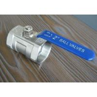 China A105 threaded FNPT 1000 WOG / 2000 WOG full port 2 pieces ball valve on sale