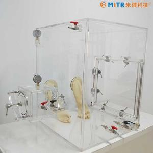 Mini Acrylic & Plexiglass Vacuum Glove Box Customized For Lab Research Manufactures