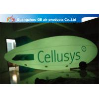 Commercial Inflatable Helium Balloons , Giant Helium Blimp With LED Light for sale
