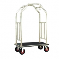 Bright Luggage Cart Hotel Display Stand With Hooks / Luggage Cart Hotel Luggage Dolly Manufactures