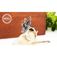 Wholesale Drjobson Jewelry stainless steel Vintage Ring for men E17 Retro fashion Ring Manufactures