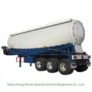V Shaped Cement Powder Tanker Transport Trailer With Diesel Engine Air Compressor Manufactures