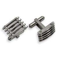 China Fashion jewelry brass wholesale quality black plated 316L stainless steel cuff links on sale