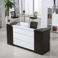Customized wooden vintage reception desk office furniture office counter design Manufactures