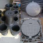 Heavy Duty Cast Iron Manhole Cover Valve Accessories For Construction En124 Standard Manufactures