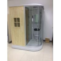 Recantangel Sauna Room Bathroom Shower Cabins 2 Sided Waste Drain / Wooden Room Manufactures