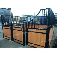 China Luxury Horse Equipment Stable Box Front Portable Panels Stall with bamboo wood Manufactures