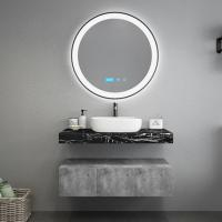 China Black Marble Countertops Unique Bathroom Vanities , Touch Mirror Bathroom Sink Vanity Unit on sale