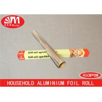 Quality Anti Water Food Grade Aluminum Foil Paper Roll 45cm X 12 Micron X 8m Environmental Protection for sale