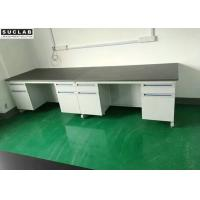Biotechnology Chemistry Lab Furniture , C / H Frame Lab Bench Table SGS Certified Manufactures