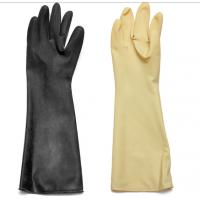 Abrasion / Chemical Resistant Hand Protection Gloves Long Sleeves Natural Latex / Rubber Manufactures