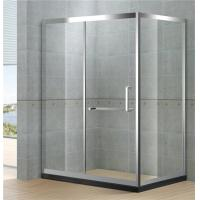 Sliding Rectangular Shower Cubicle Mirror Full Stainless Materials With  Stainless Steel Wheels Manufactures
