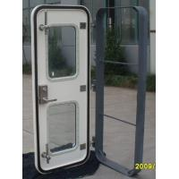 China Clip Opening GRP Marine Doors Glass Fiber Reinforced Plastic Marine Weathertight Door on sale